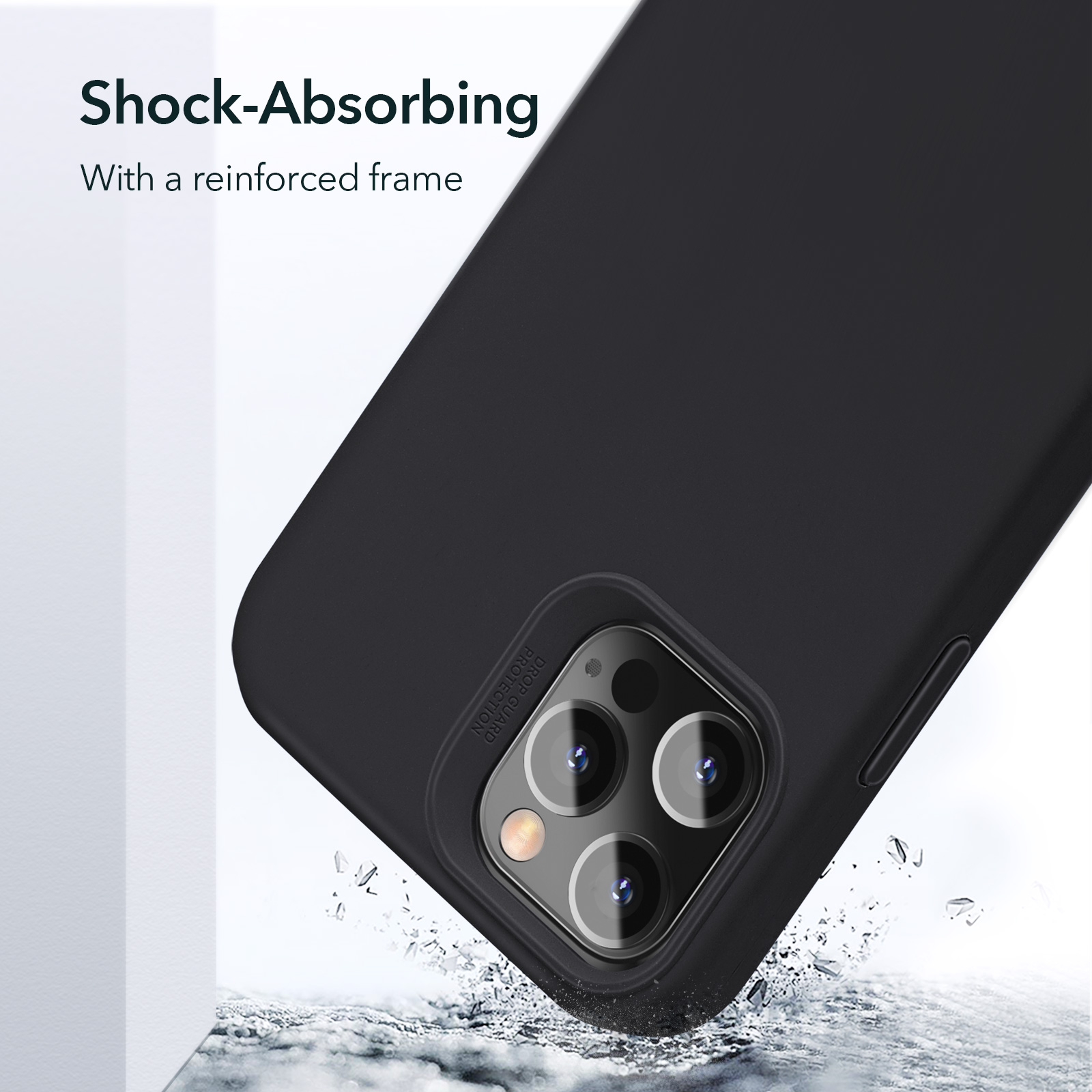 Shock Absorbing with a reinforced frame for iPhone 12