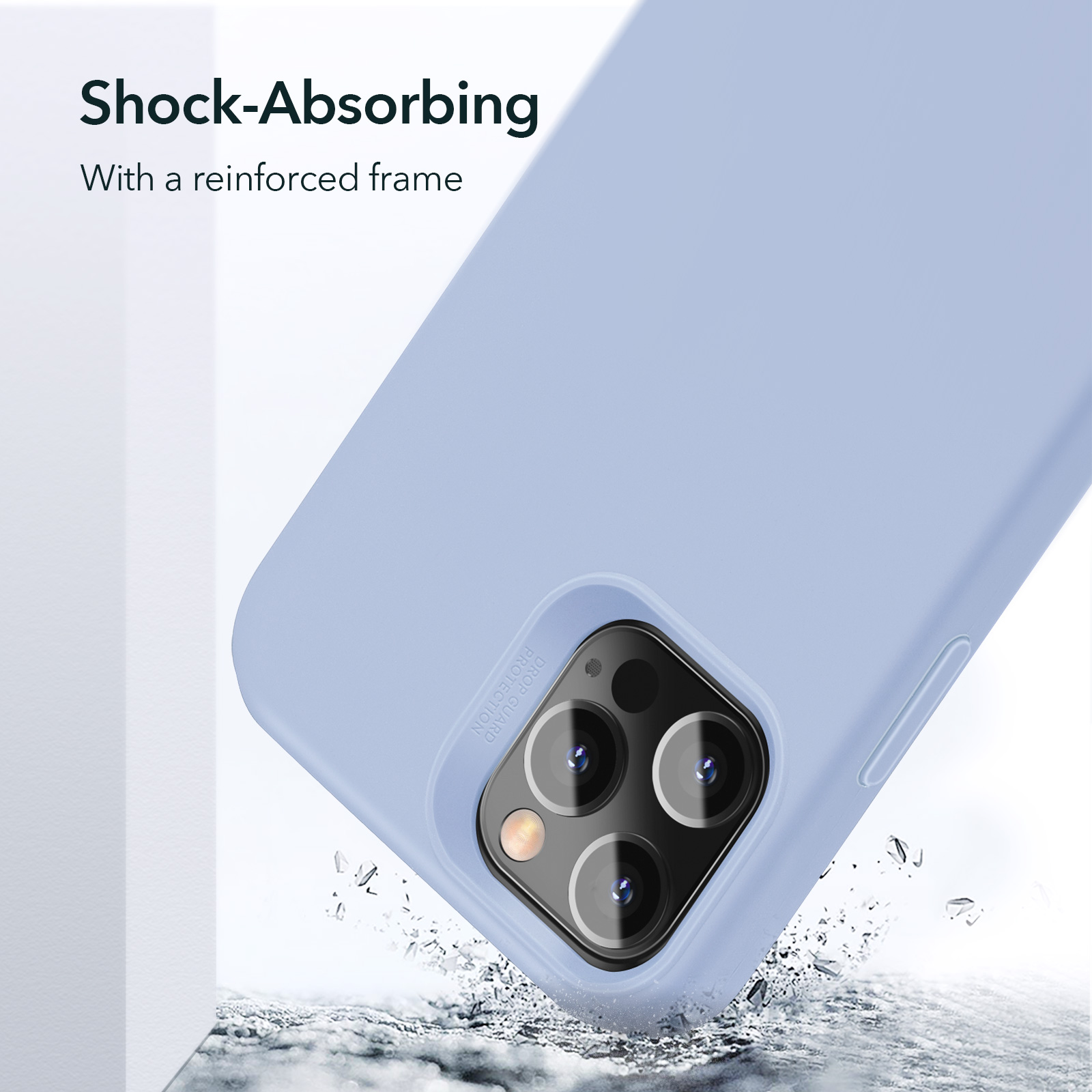 Shock Absorbing Silicone Case for iPhone 12