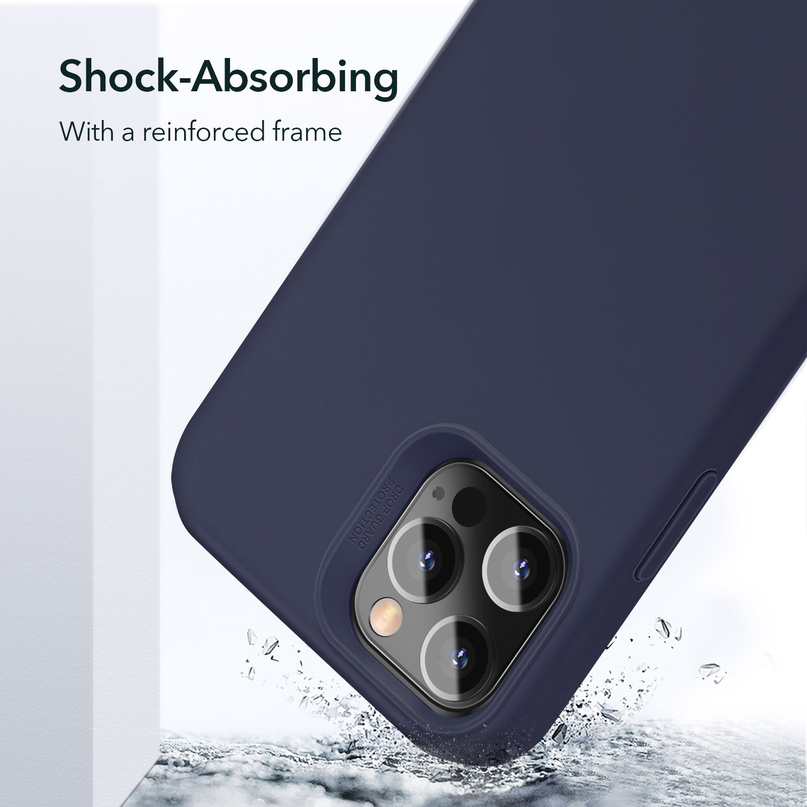 ESR Soft Silky silicone case with a reinforced frame for iPhone 12 Pro Max