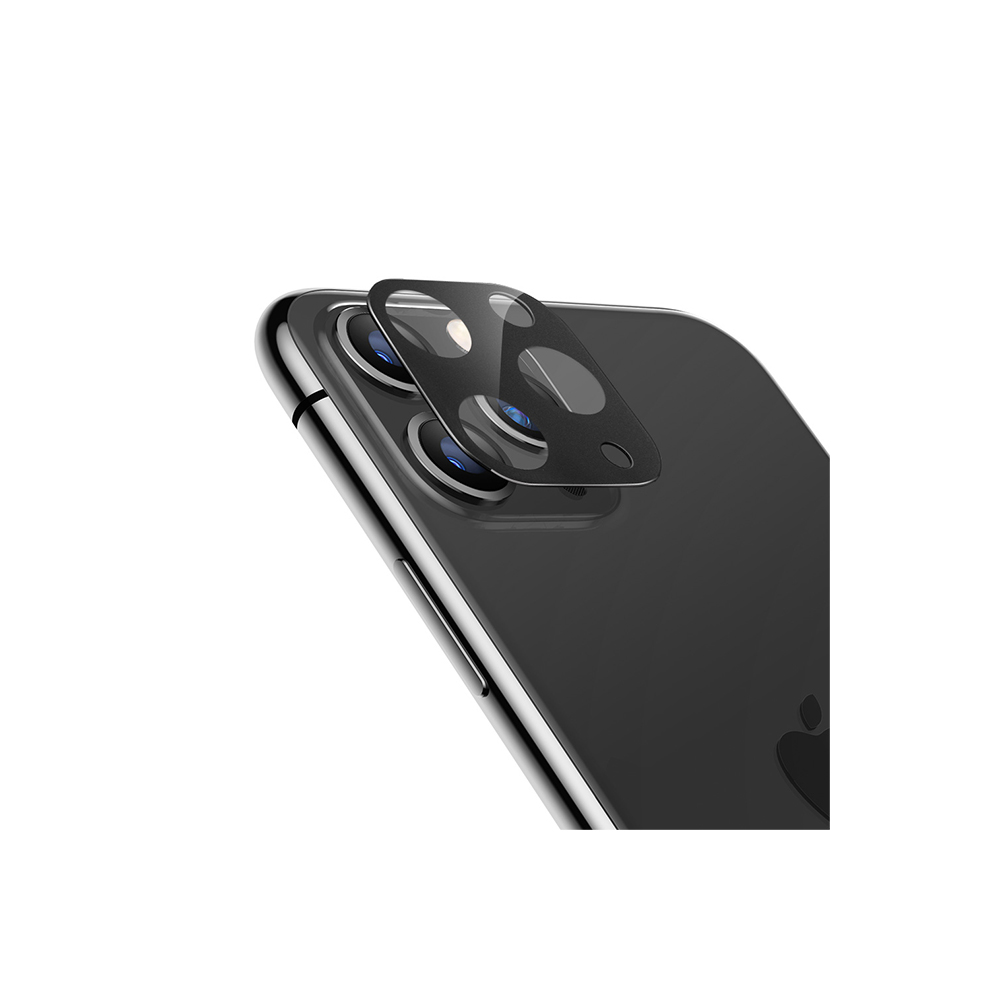 Spigen, 2Pack, iPhone 11 Camera Lens Protector Black, 9H Hardness, Case Friendly, Crystal Clear, Anti-Scratch, Black Tempered Glass iPhone 11 Camera Lens Protector