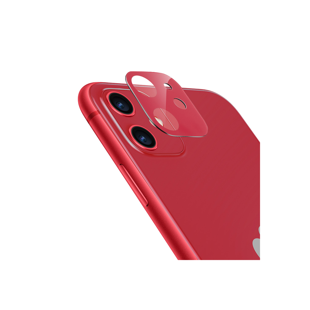 ESR, 2Pack, iPhone 11 Camera Lens Protector Red, 9H Hardness, Case Friendly, Crystal Clear, Anti-Scratch, Black Tempered Glass iPhone 11 Camera Lens Protector