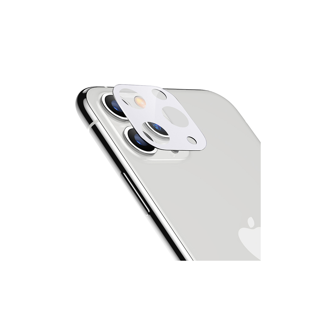 ESR, 2Pack, iPhone 11 Camera Lens Protector Silver, 9H Hardness, Case Friendly, Crystal Clear, Anti-Scratch, Black Tempered Glass iPhone 11 Camera Lens Protector