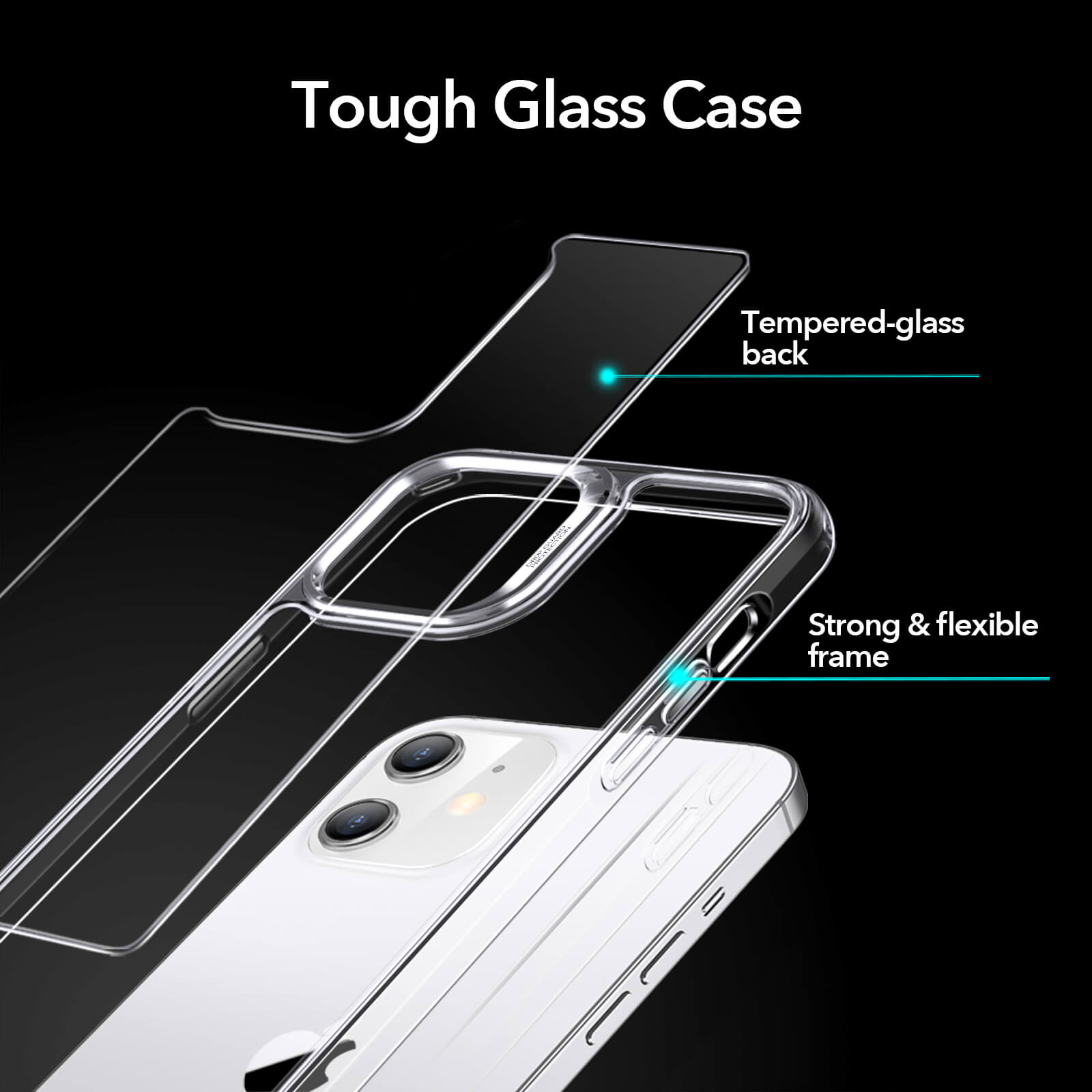 Strong and flexible frame with tough glass