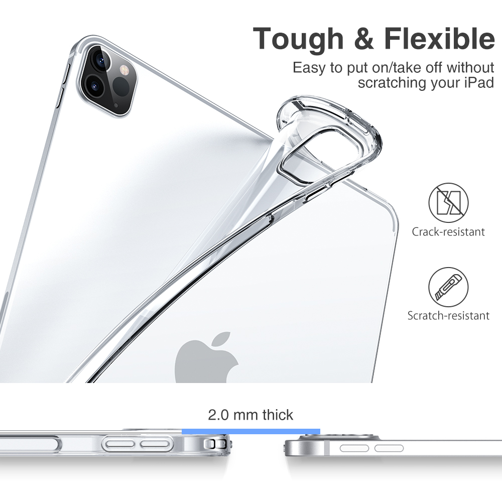 ESR Tough, flexible and scratch proof back cover for ipad pro