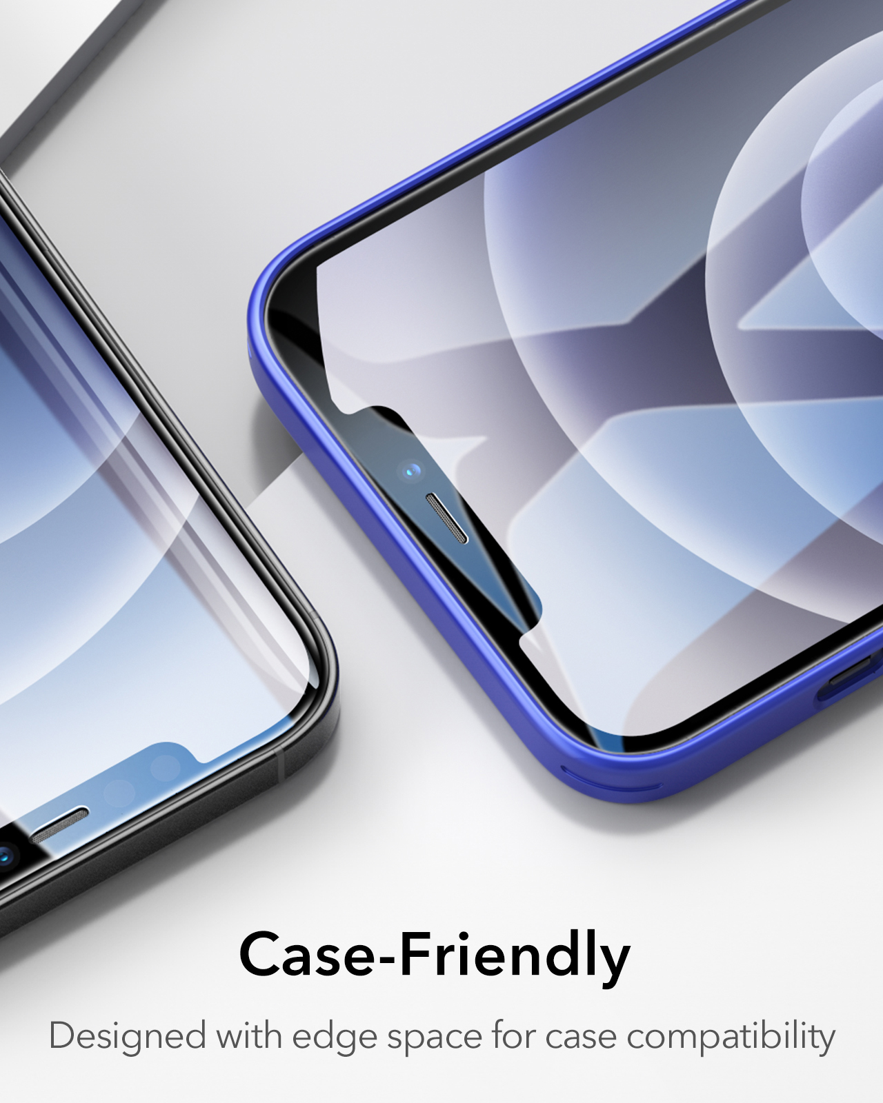 Case friendly screen protector for iphone
