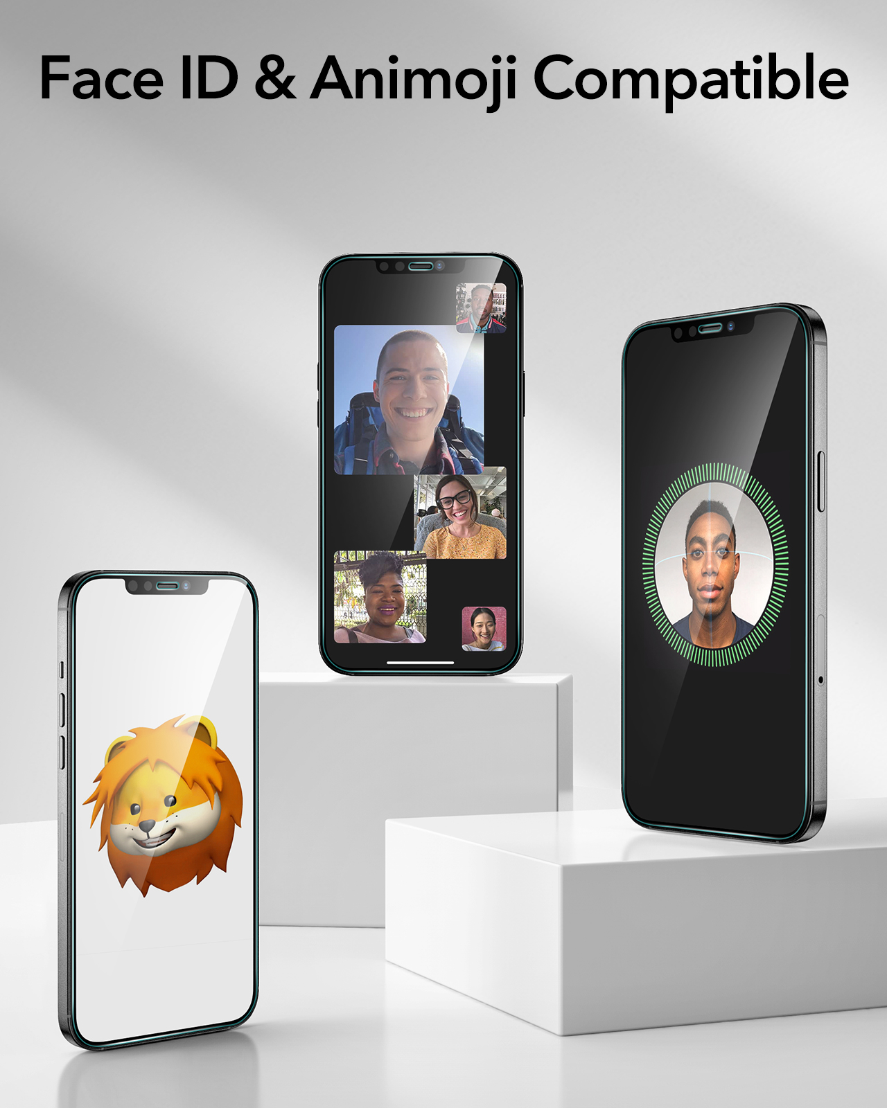 Face ID and Animoji Compatible screen protector
