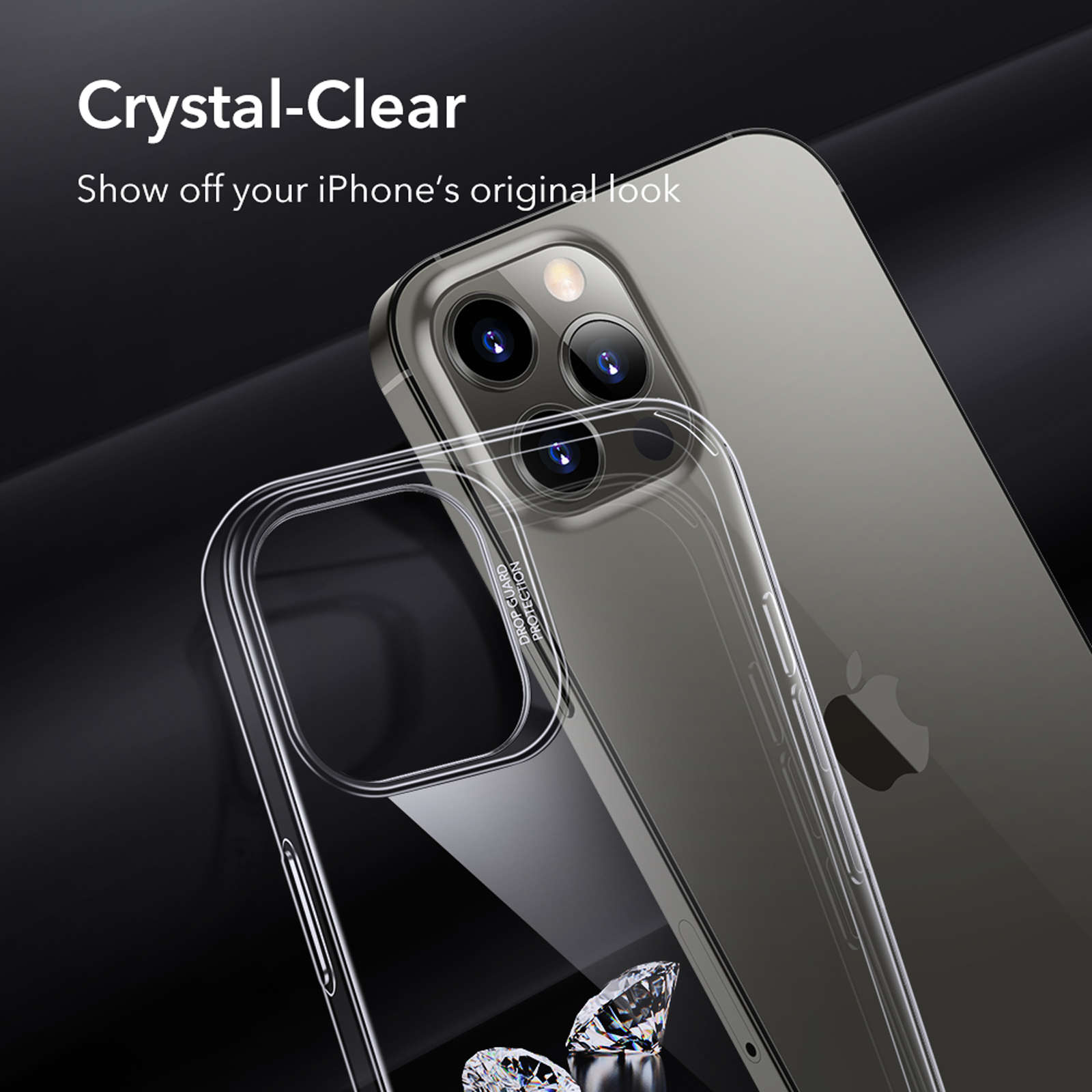 Crystal-Clear back cover for Iphone 12