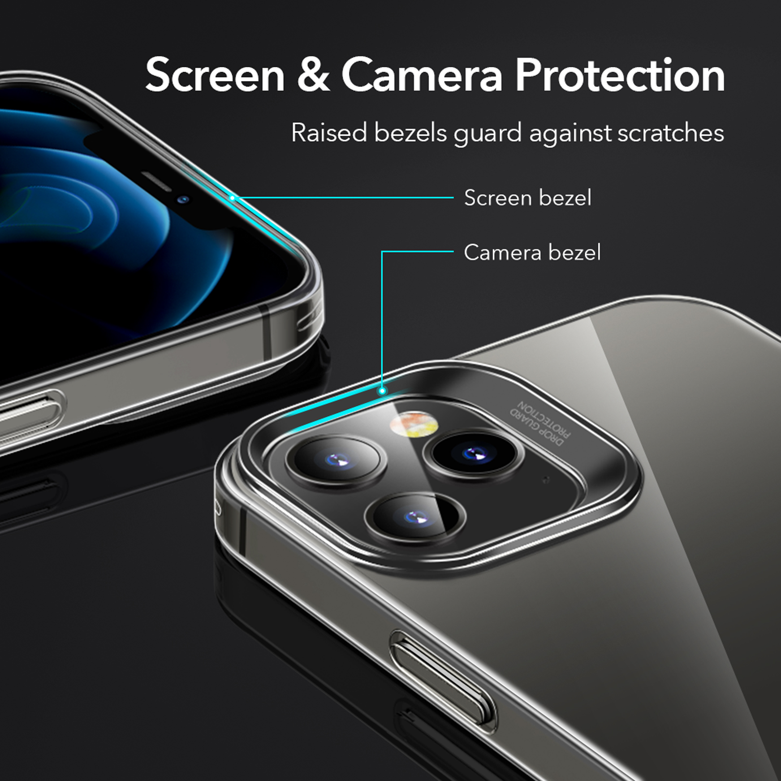 Clear bacck cover with screen and camera protection