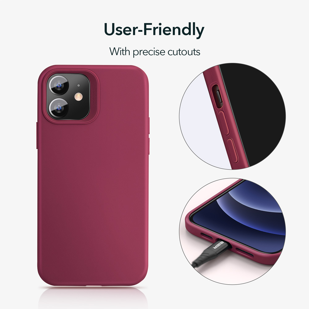ESR Soft Silicone Case Wine red for iPhone 11