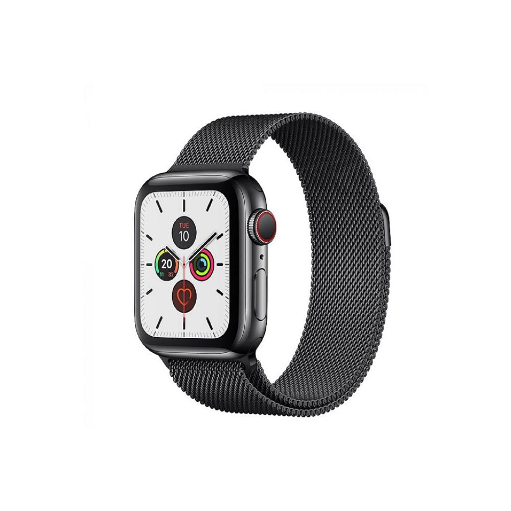 Apple Watch Stainless Steel Milanese Loop Black for Series 6, Series 5